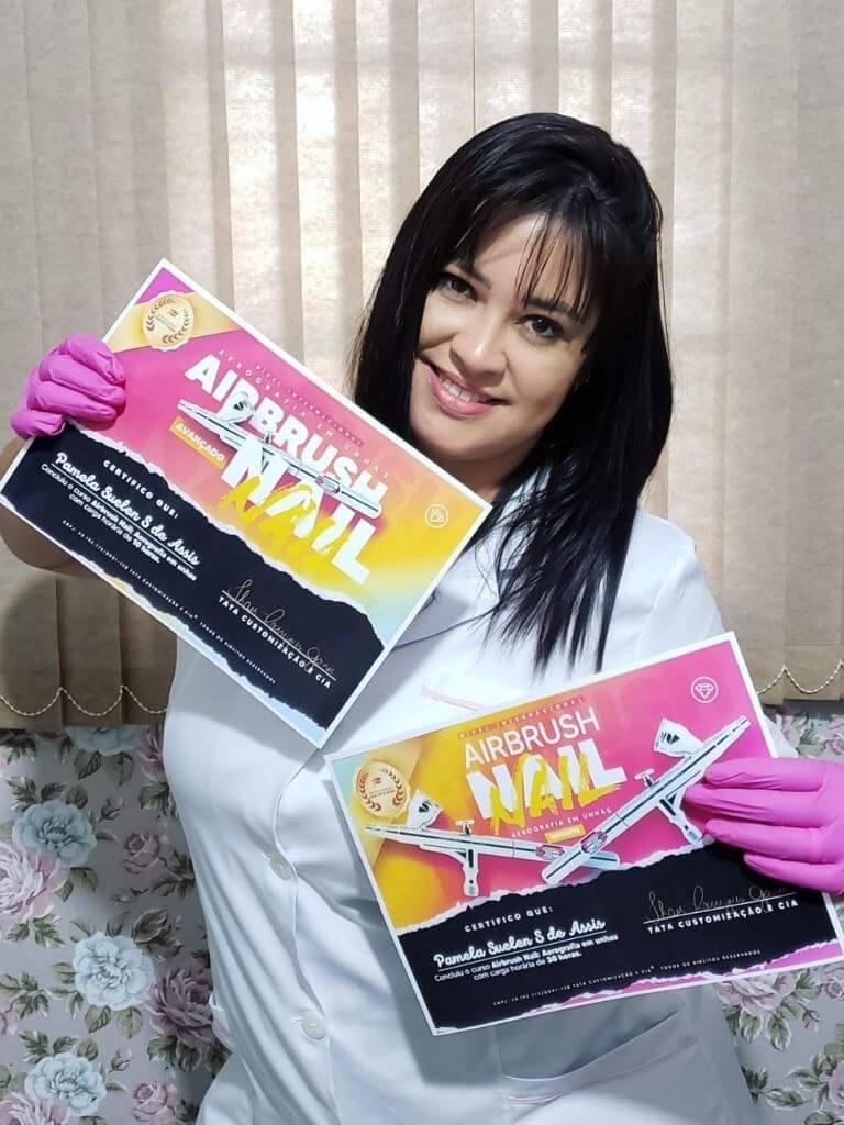 Curso Tata airbrush aluna com certificado (2)