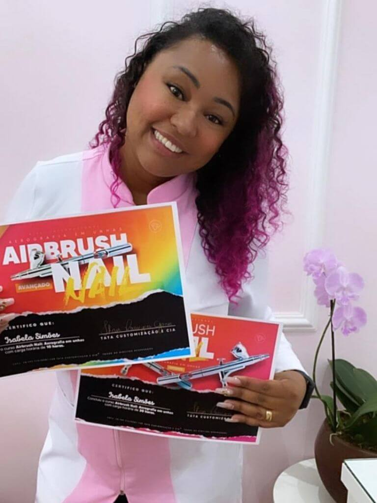 Curso Tata airbrush aluna com certificado